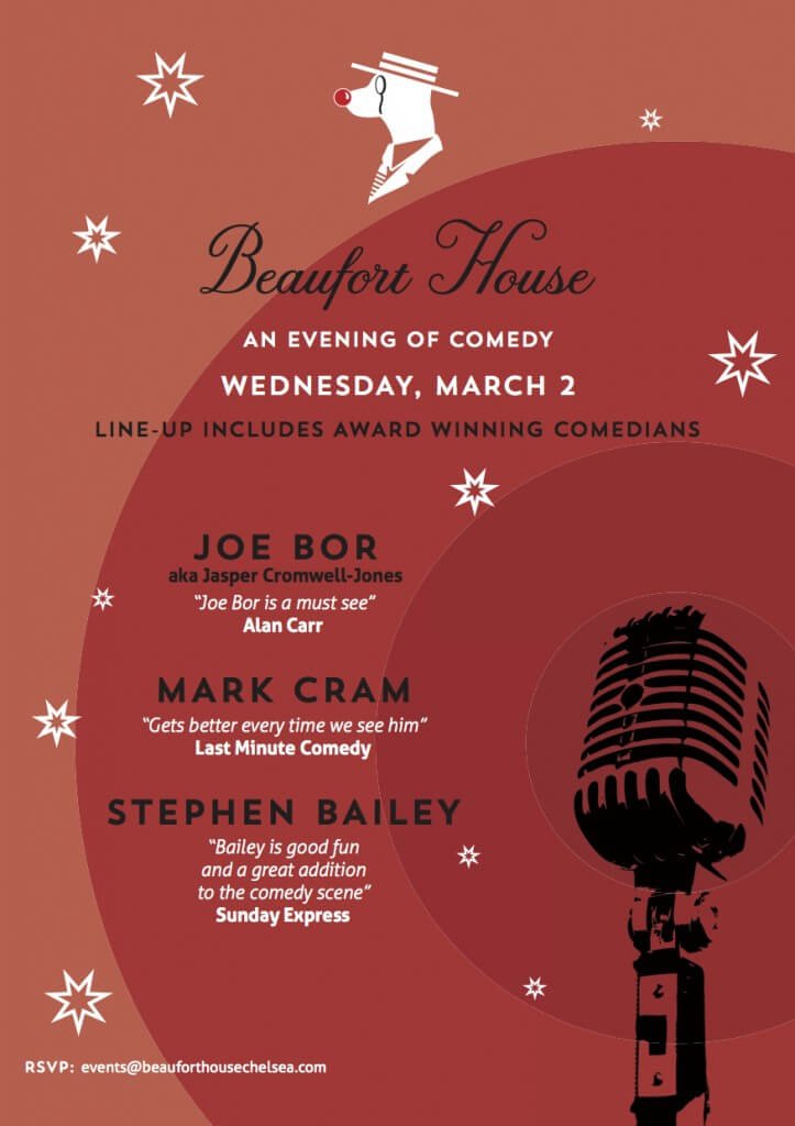 Comedy Evening March Flyer